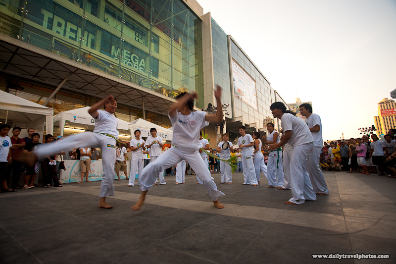 Capoeira Exhibition at Central World Mall Songkran - Bangkok, Thailand - Daily Travel Photos